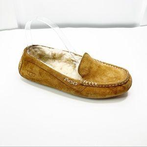 UGG Womens Ansley Chestnut Moccasin Slippers Sz 8